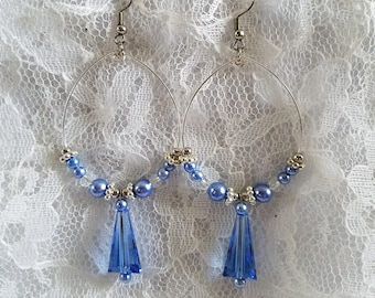 Cirrus Blue Chandelier Earrings