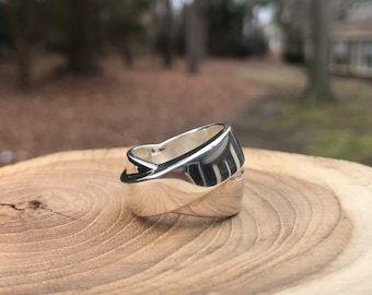 Silpada Band Together Ring Size 9- R3056 Sterling Silver, Vintage Retired