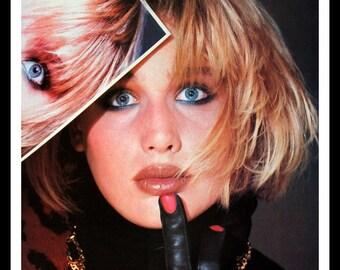1983 Vogue Fashion Page Ad - Gold Link Chain - 80s - Wall Art  - Home Decor - Bath - Vanity - Retro Vintage Fashion Advertising