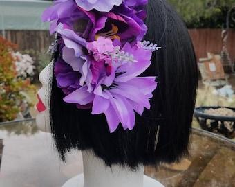Tropical Purple Hair Flower