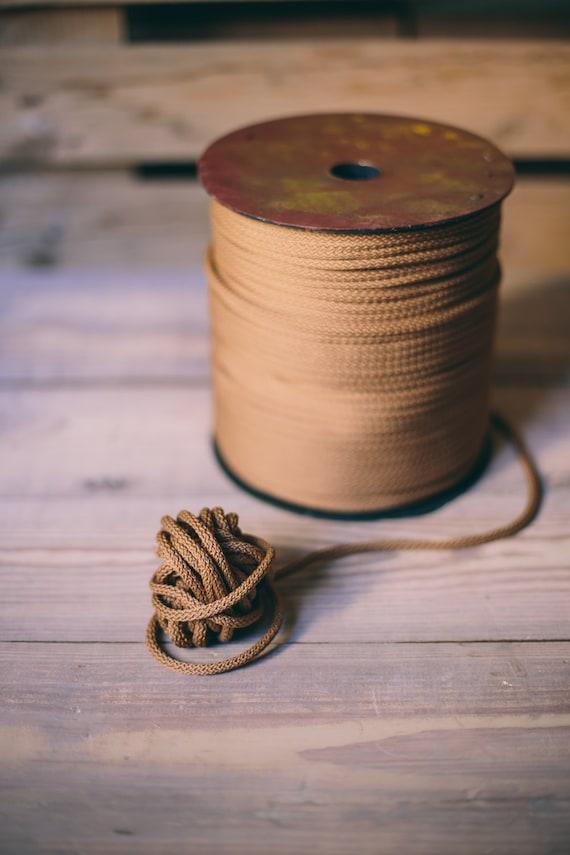 Brown yarn - macrame cord- diy projects- polyester rope- crochet supplies- craft supplies- macrame yarn- crochet yarn- rope cord #05