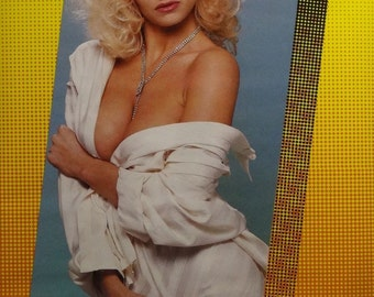 Your Shirt Or Mine 23x35 80's Pin Up Girl Poster 1987 Silvermoon