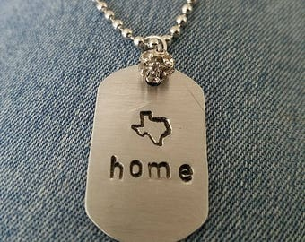 Texas is Home Necklace