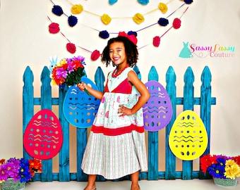 Girls Easter Dress, Girls Dress, Girls Spring Dress, Girls Floral Dress, Floral Easter Dress, Easter Egg Dress, Spring Dress, Girls Dresses