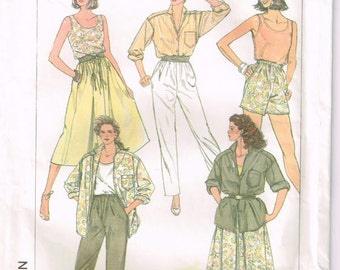 Vintage Simplicity 1980's Misses' Casual Separates Pattern 7363 (Cut and Complete)  Sizes:(6, 8, 10)