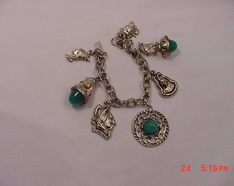 Vintage Native American Indian Charm Bracelet  18 - 199