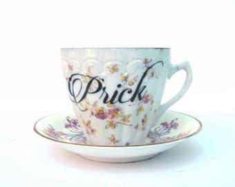 SALE - Imperfect - Prick Teacup