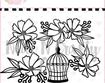 Sweet Daisies set cutfile . For scrapbooking and paper crafting