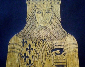 Edward the Black Prince, 1306..Historical Brass Rubbing..Gold or Black........FREE SHIPPING
