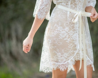 French Lace Robe for Bride, A must-have for every bride to be