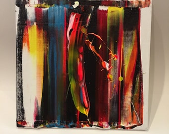 12 x 12 Abstract Art Acrylic Painting Canvas on board Ready to hang with hanger Contemporary Modern Paint