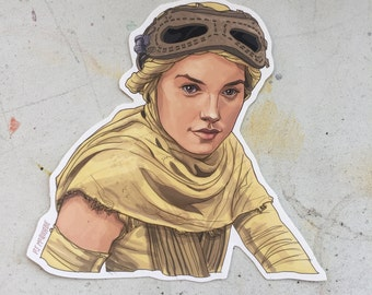 Rey STAR WARS waterproof sticker