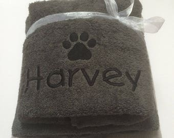 Personalised Dog Blanket & Towel Gift Set