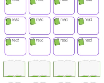 READ / BOOKS: Printable & Perfect for All Paper Planners (Digital Pdf File)