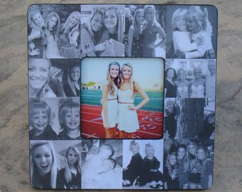 """Personalized Sister Gift, Bridesmaid Collage Picture Frame, Custom Maid of Honor Frame, Best Friends Gift, Graduation Gift, 8"""" x 8"""" Frame"""