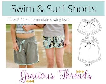 Swim & Surf Shorts PDF Sewing Pattern