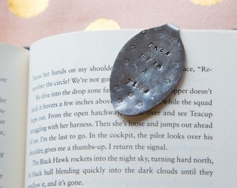 """Hand Stamped Spoon Bookmark- """"Once Upon A Time"""""""
