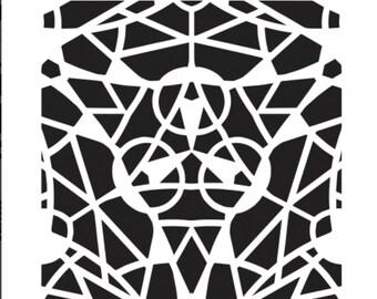 Artistcellar stencil (Trillium) Kaleidoscope series