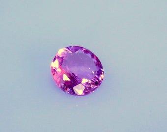 2.95ct Natural Rubellite Tourmaline gemstone round 9.5mm Faceted pink tourmaline