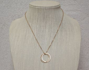 Gold Rings Modern Necklace