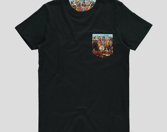 The Beatles - Sgt. Pepper's Lonely Hearts Club Band Album Cover Printed Adult T Shirt