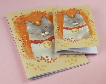 Cat Notebook / Animal Notebook / A6 notebook / Small notebook / Cat illustration / Cute Notebook / Cat Journal / Cat stationery / Notepad.