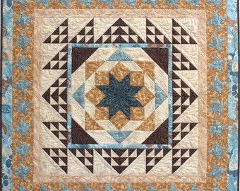 Mediterranean Tiles Wall Hanging/Lap Quilt