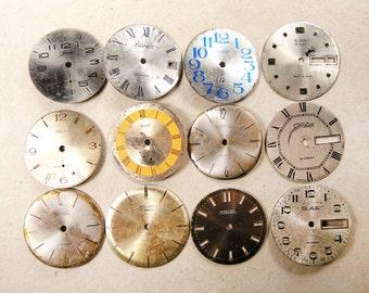 Vintage Watch Faces - set of 12 - c14