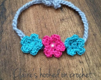 baby flower halo headband, colourful chic headband, newborn photography prop