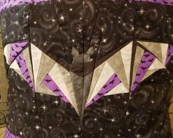 Going Batty Quilted Bat Pillowcase