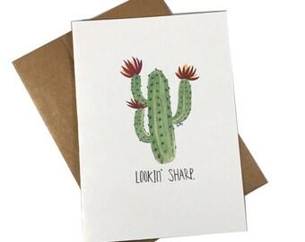 Lookin' Sharp Greeting Card