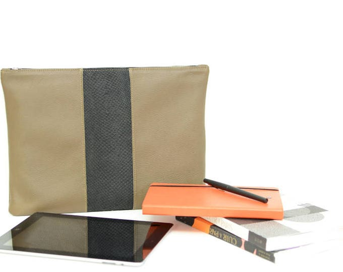 SASHA clutch - Fish leather