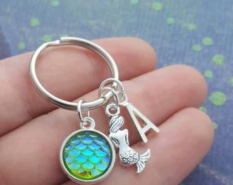Mermaid key chain & oyster opening