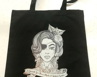 Tote bag Sailor Girl black