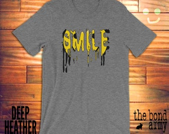Smile Shirt Happy Smiling Face T-shirt Smiley Face Emoticon Tees Creepy Weird Smile Faces Shirts Happy Face T-shirts For Men And Women