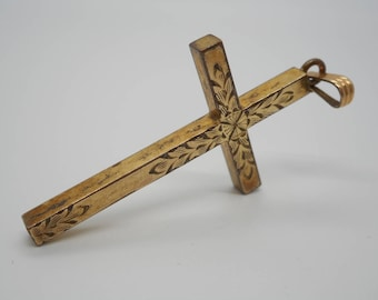 Antique Victorian Edwardian Jewelry Gold Filled Cross