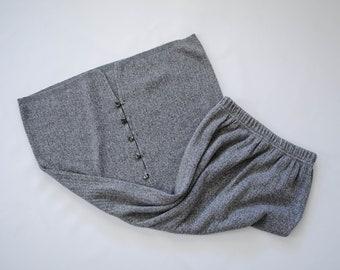 gray knit skirt | long gray skirt | minimal gray skirt | long gray ribbed skirt | long cotton skirt | gray maxi skirt