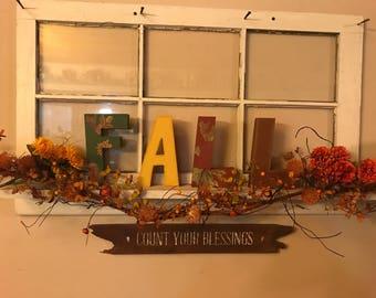 FALL Letters/ Fall Decor