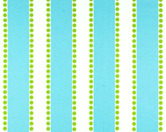 Premier Prints Home Decorator Fabric, Lulu in Blue and Chartreuse, Home Dec Fabric, 1 Yard
