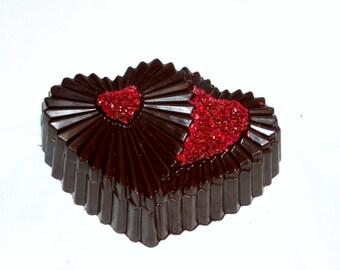 Jeweled Hearts Chocolate Box