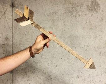 Skinny Wood Wall Arrow | Made in KC MO USA | Arrow