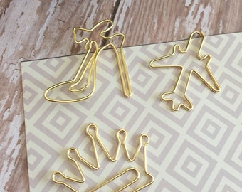Chic Gold Paperclip