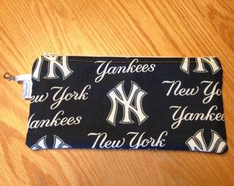 New York Yankees Baseball MLB Zipper Pencil Pen Pouch