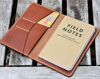 JP Leathercraft Handmade Field Notes Cover Wallet New Haven Leather