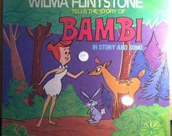 Wilma Flintstone Tells The Story Of Bambi Sealed Vinyl Childrens Record Album