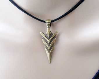 arrowhead choker - choker necklace - tribal jewellery - handmade jewellery