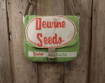 Vintage Dewine alfalfa seed sack ReCreated