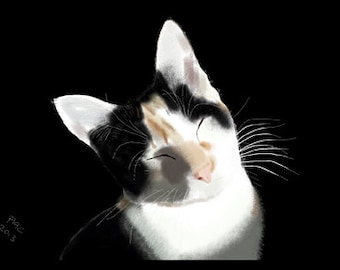Cat Greeting Card, Blank, Lily Portrait Design No A6024
