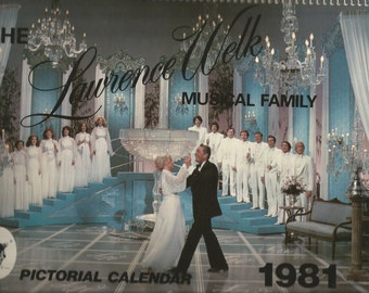 1981 Lawrence Welk Pictorial Calendar