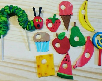 Fondant Hungry Caterpillar and Food
